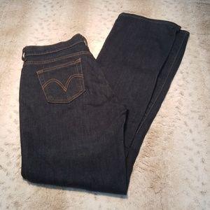 Levi's Long Dark Wash 515 Bootcut Jeans